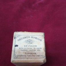 Vintage: ANTIGUO SECANTE PARA PINTURAS SYRIUS. Lote 276779988