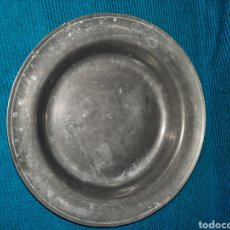 Vintage: PLATO O RECIPIENTE DE PLOMO CON SELLO EN LA BASE FV, 9 CM. Lote 277171433