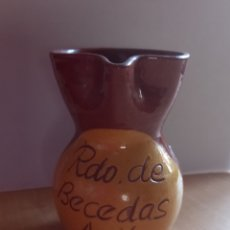 Vintage: JARRA DE BARRO, RDO DE BECEDAS, AVILA MEDIDAS , 7 X 11,5 X 5,5 CM.. Lote 277640463
