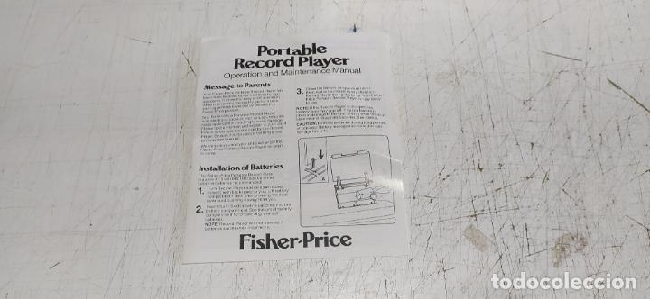 Vintage: fisher-price portable record player tocadiscos a pilas nuevo en su caja 1983 hong kong - Foto 12 - 278425483
