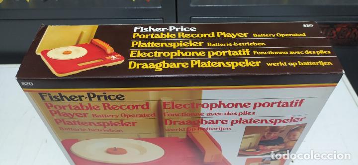 Vintage: fisher-price portable record player tocadiscos a pilas nuevo en su caja 1983 hong kong - Foto 13 - 278425483