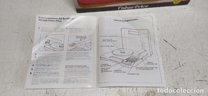 Vintage: fisher-price portable record player tocadiscos a pilas nuevo en su caja 1983 hong kong - Foto 14 - 278425483