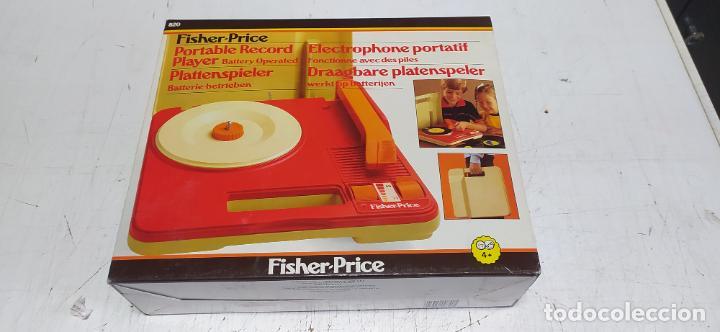 FISHER-PRICE PORTABLE RECORD PLAYER TOCADISCOS A PILAS NUEVO EN SU CAJA 1983 HONG KONG (Vintage - Varios)
