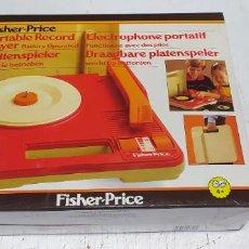 Vintage: FISHER-PRICE PORTABLE RECORD PLAYER TOCADISCOS A PILAS NUEVO EN SU CAJA 1983 HONG KONG. Lote 278425483