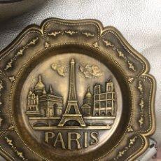 Vintage: PLATO DECORATIVO BRONCE PARIS. Lote 284306393