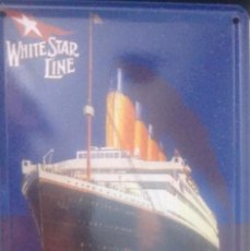 Vintage: PLACA DE CARTEL. TITANIC. TIN CARD. ADQUIRIDA EN LONDRES. 11X8 CM.. Lote 285273698