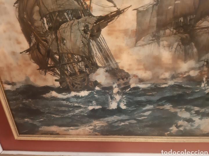 Vintage: BATALLA NAVAL CUADRO DECORACION - Foto 5 - 262975560