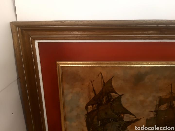 Vintage: BATALLA NAVAL CUADRO DECORACION - Foto 6 - 262975560