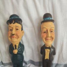 Vintage: FIGURAS LAUREL Y HARDY. Lote 287908338