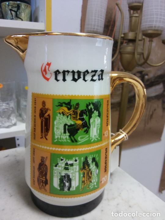 BONITA JARRA DE CERVEZA. EN CERÁMICA. MEDIDAS DIAMETRO 11 CM ALTO 22 CM (Vintage - Varios)