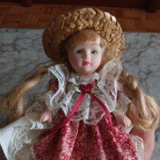 Vintage: MUÑECA DE PORCELANA. Lote 288402688
