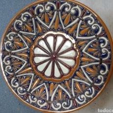 Vintage: PLATO DE COMIDA DE CUERDA SECA DE TOLEDO. Lote 288473098