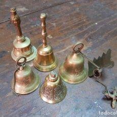 Vintage: ANTIGUAS CAMPANAS METAL PEQUEÑO FORMATO. Lote 288666128