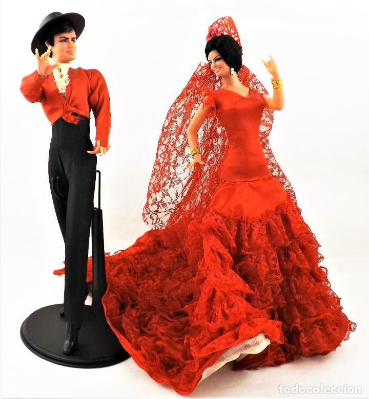 Vintage: Marín (Chiclana) Originales. Pareja Flamenca - Foto 2 - 288696788
