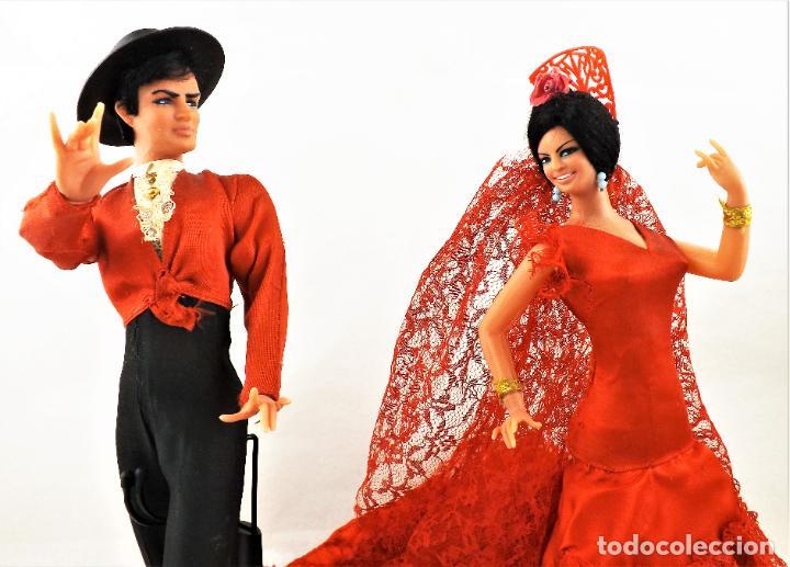 Vintage: Marín (Chiclana) Originales. Pareja Flamenca - Foto 3 - 288696788