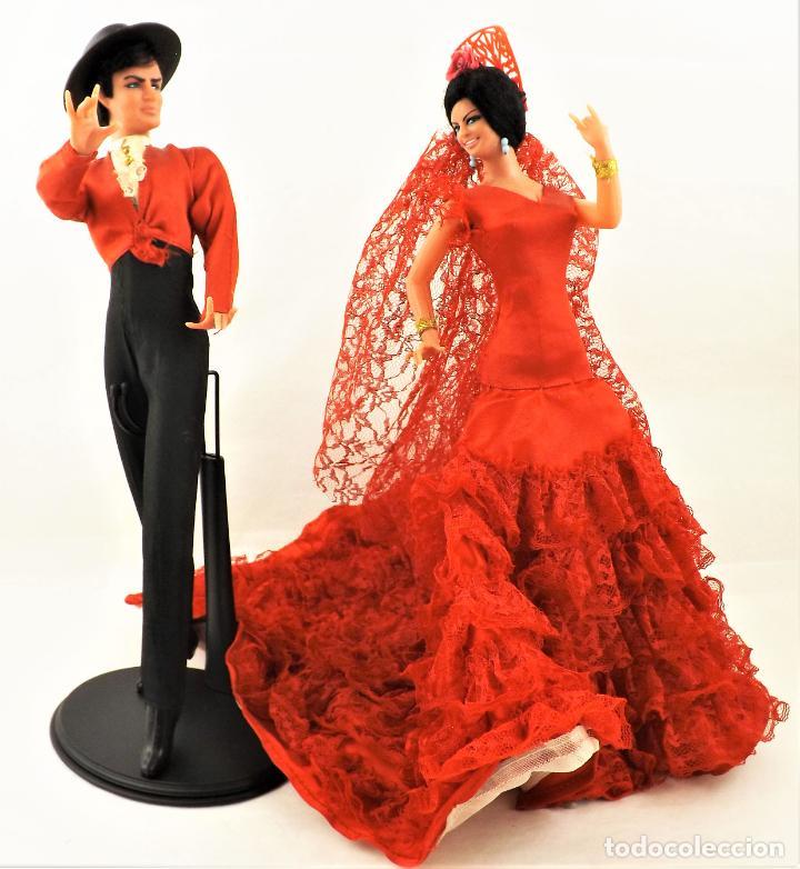 Vintage: Marín (Chiclana) Originales. Pareja Flamenca - Foto 4 - 288696788