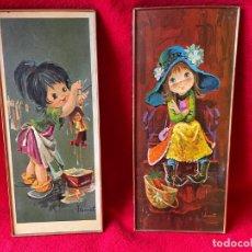 Vintage: VINTAGE PAREJA DE CUADROS AÑOS 60. Lote 288871758