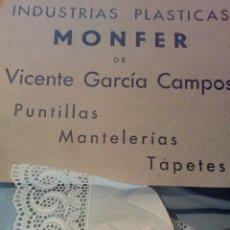 Vintage: PUNTILLAS PLÁSTICAS PARA MANTEL 9 METROS. Lote 289766648