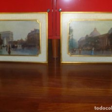 Vintage: ARCO TRIUNFO Y PETIT PALAISE MARCOS DECORATIVOS PARIS COMIENZOS SIGLO XX IDEAL DECORACIÓN ROMÁNTICA. Lote 293445043