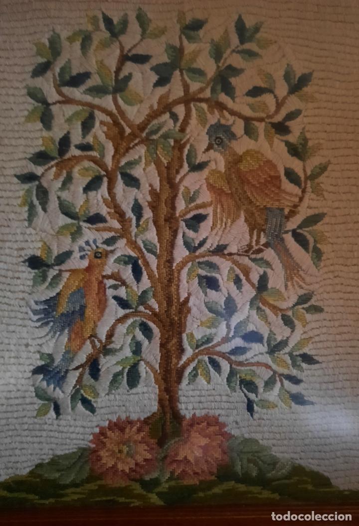 Vintage: BORDADO BAJO CRISTAL ENMARCADO. 58 x 74 cm. - Foto 2 - 293586183