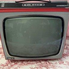 Vintage: TELEVISOR VINTAGE COLOR ROJO KOLSTER 12 HI SENSIBILITY ALTURA 32 CM. ANCHO 40 CM. 30. Lote 294580948