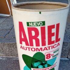 Vintage: ANTIGUO TAMBOR BOTE DETERGENTE ARIEL 8 KG EN CARTON CON ASA SIN TAPA (RARO Y DIFICIL). Lote 295986243
