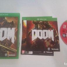 Xbox One: JUEGO DOOM PAL MICROSOFT XBOX ONE CASTELLANO. MUY BUEN ESTADO. Lote 63763523