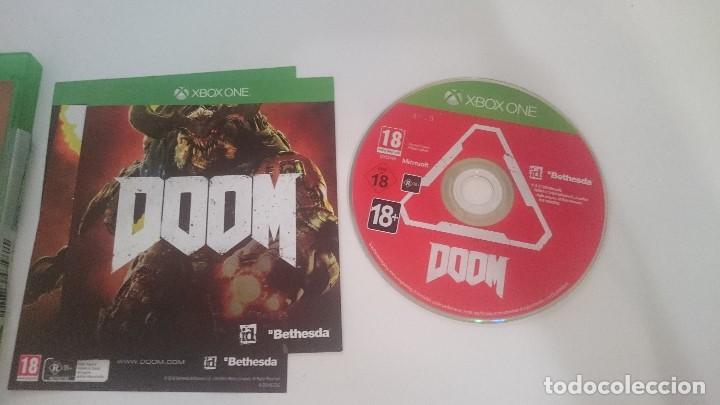 Xbox One: JUEGO DOOM PAL MICROSOFT XBOX ONE CASTELLANO. MUY BUEN ESTADO - Foto 2 - 63763523