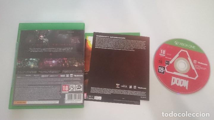 Xbox One: JUEGO DOOM PAL MICROSOFT XBOX ONE CASTELLANO. MUY BUEN ESTADO - Foto 4 - 63763523