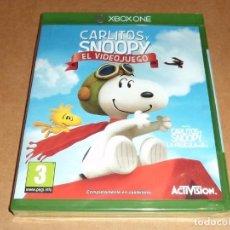 Xbox One: CARLITOS Y SNOOPY : EL VIDEOJUEGO PARA MICROSOFT XBOX ONE, A ESTRENAR, PAL. Lote 74763471