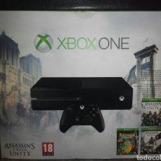 Xbox One: XBOX ONE NUEVA PRECINTADA 500 GB + 3 JUEGOS: ASSASSINS CREED UNITY, A.C. BLACK FLAG Y RAYMAN LEGENDS. Lote 95499030