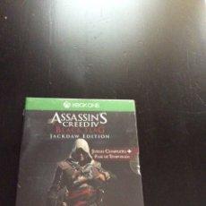 Xbox One: VIDEOJUEGO ASSASSIN'S CREED IV BLACK FLAG. JACKDAW EDITION PARA XBOX ONE PRECINTADO. Lote 131682710
