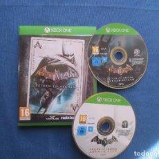 Xbox One: BATMAN RETURN TO ARKHAM - PAL ESPAÑA - XBOX ONE - COMO NUEVO - 2 JUEGOS EN 2 DISCOS . Lote 147985266
