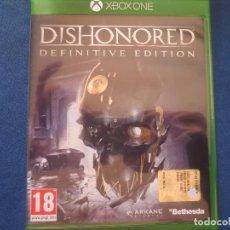 Xbox One: DISHONORED DEFINITIVE EDITION - PAL ESPAÑA - XBOX ONE - TOTALMENTE EN CASTELLANO - REMASTERIZADO. Lote 153626178
