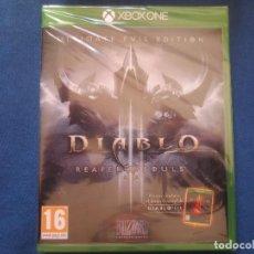 Xbox One: DIABLO III REAPER OF SOULS - DIABLO 3 ULTIMATE EVIL EDITION - PAL ESPAÑA - NUEVO Y PRECINTADO - XBOX. Lote 153637062