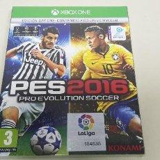Xbox One: 619-PES 2016 XBOX ONE EDICION DAY ONE VERSION ESPAÑOLA NUEVO PRECINTADO. Lote 167115928