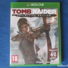 Xbox One: XBOX ONE - TOMB RAIDER DEFINITIVE EDITION - PAL ESPAÑA - TOTALMENTE EN CASTELLANO - DESCATALOGADO. Lote 175967785