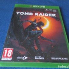 Xbox One: XBOX ONE - SHADOW OF THE TOMB RAIDER - PAL ESPAÑA - TOTALMENTE EN CASTELLANO - MEJORADO PARA XBOX X. Lote 175968944