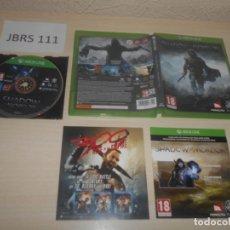 Xbox One: XBOX ONE - EL SEÑOR DE LOS ANILLOS - SOMBRAS DE MORDOR , PAL UK , COMPLETO. Lote 177947414