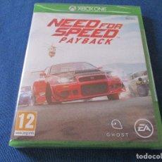 Xbox One: XBOX ONE - NEED FOR SPEED PAYBACK - PAL ESPAÑA - MEJORADO XBOX ONE X - NUEVO Y PRECINTADO. Lote 181453043