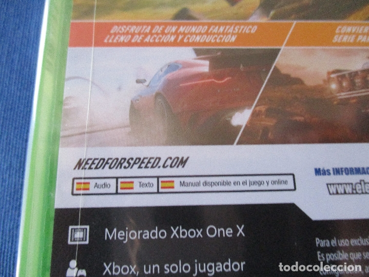 Xbox One: XBOX ONE - NEED FOR SPEED PAYBACK - PAL ESPAÑA - MEJORADO XBOX ONE X - NUEVO Y PRECINTADO - Foto 4 - 181453043