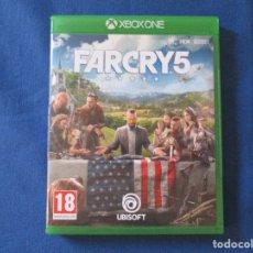 Xbox One: XBOX ONE - FAR CRY 5 - PAL ESPAÑA - TOTALMENTE EN CASTELLANO - FARCRY 5 - MEJORADO XBOX ONE X. Lote 181465125