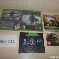 Xbox One: XBOX ONE - EL SEÑOR DE LOS ANILLOS , SOMBRAS DE MORDOR , PAL UK , COMPLETO. Lote 187531305