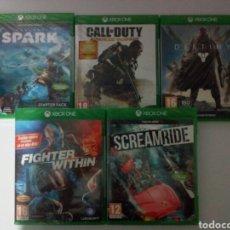 Xbox One: LOTE DE 5 JUEGOS XBOX ONE. PRECINTADOS. A ESTRENAR. TOTALMENTE EN CASTELLANO. Lote 194530902