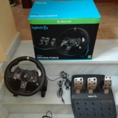 Xbox One: VOLANTE G920 DRIVING FORCE- RACING WHEEL FOR XBOX ONE AND PC- LOGITECH- PEDALIER DE ALUMINIO. Lote 226761665