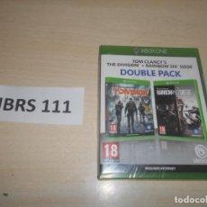 Xbox One: XBOX ONE - DOUBLE PACK - THE DIVISION + RAIMBOW SIX SIEGE , PAL ESPAÑOL , PRECINTADO. Lote 244641025