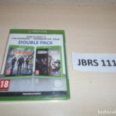Xbox One: XBOX ONE - DOUBLE PACK - THE DIVISION + RAIMBOW SIX SIEGE , PAL ESPAÑOL , PRECINTADO. Lote 261945340