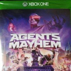 Xbox One: AGENTS OF MAYHEM (DAY ONE EDITION). JUEGO PARA XBOX ONE. NUEVO, PRECINTADO. PAL-ESP.. Lote 276170108
