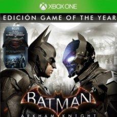 Xbox One: BATMAN ARKHAM KNIGHT GOTY - XBOX ONE. Lote 285827438
