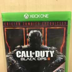 Xbox One: CALL OF DUTY BLACK OPS 3 + ZOMBIE CHRONICLES - XBO (2ª MANO - BUENO). Lote 288427823